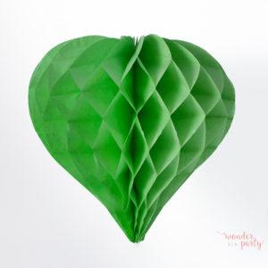 Corazón nido de abeja verde mint