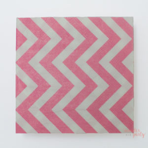 Servilletas de papel chevron rosa wonder party barcelona