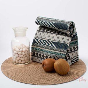 bolsa de tela para almuerzo estampado navajo