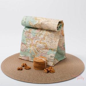 bolsa de tela mapa mundi