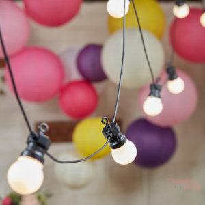 guirnalda de luces led blancas para fiestas y bodas