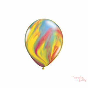 Globos marmoleados multicolor
