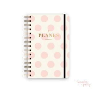 Planificador diario lunares rosa