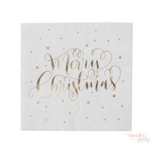 Servilletas Merry Christmas dorada