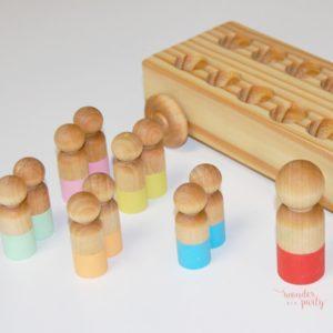 Memory Bus en madera hecho y pintado a mano ecofriendly Wonder Party Bcn