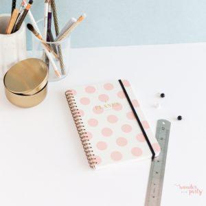 Planificador diario lunares rosa Wonder Party Bcn