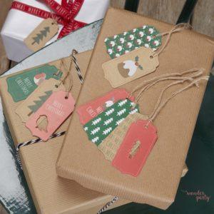 Etiquetas para regalos de navidad. Wonder party Bcn