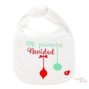 Babero algodon organico cajita regalo Mi Primera Navidad Wonder Party Bcn