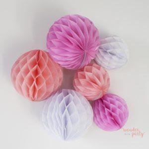 Set de 6 bolas nido de abeja