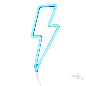 Luz neón rayo azul