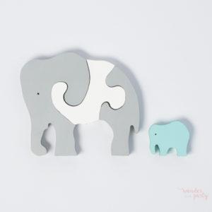 Puzle elefantes en madera
