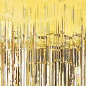 Cortina de foil flecos dorada