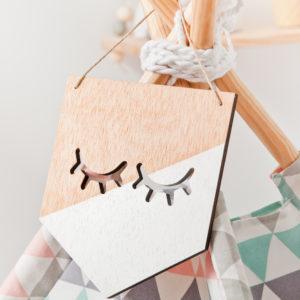 Banderola de madera sweet eyes