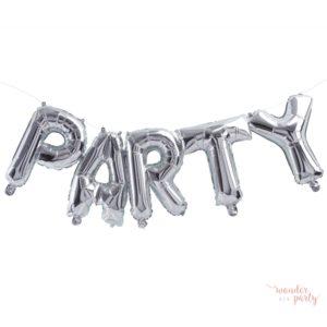 Globos PARTY foil plateado