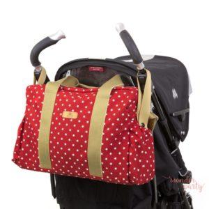 Bolso para carrito mini star rojo paseo para bebé estrellas Wonder Party Barcelona