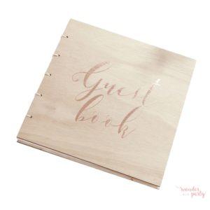 Libro de firmas tapas de madera