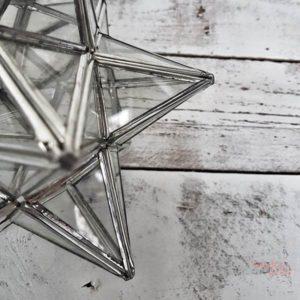 Farolillo en forma de estrella hecho a mano por artesanos Wonder Party Barcelona