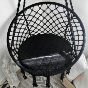 Silla colgante handmade negra
