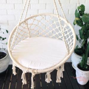 Silla colgante handmade blanca