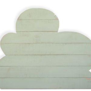 Cabecero nube en madera verde mint