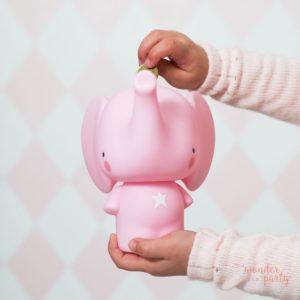 Hucha elefante rosa