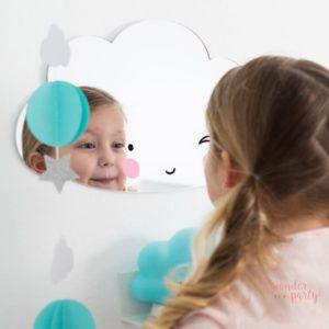 Espejo nube acrílico para niños