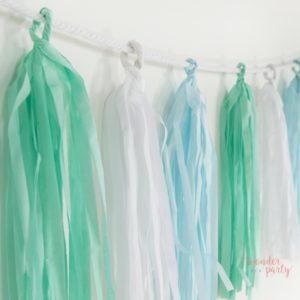 Guirnalda Tassel flecos de papel de seda cool para fiestas globos