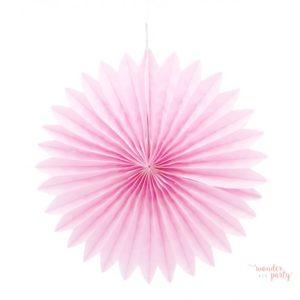 Abanico rosa palo papel de seda dos medidas