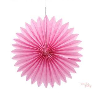 Abanico rosa papel de seda 20 cm