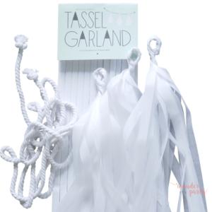 Guirnalda Tassel flecos de papel de seda