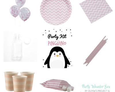 Party Wonder Box pingüino rosa