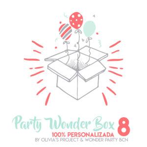 Party Wonder Box personalizada 100 x 100 Party Kit Impreso + Menaje fiestas temáticas y personalizadas para niños wonder party barcelona
