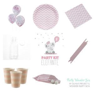Party Wonder Box Elefantito molón rosa