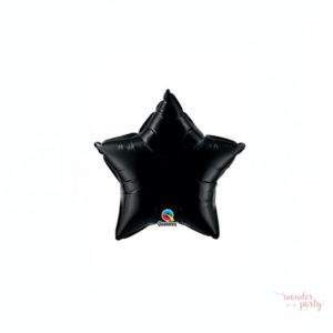 Globo foil estrella negra dos tamaños