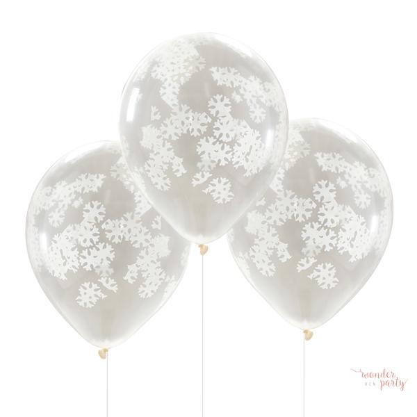 globos confetti copos de nieve wonder party bcn