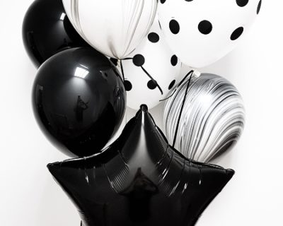 Pack de 7 globos monocromo