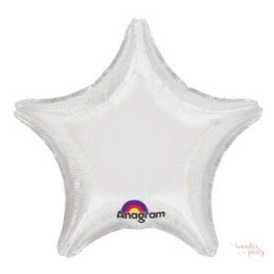 Globo foil estrella blanca grande